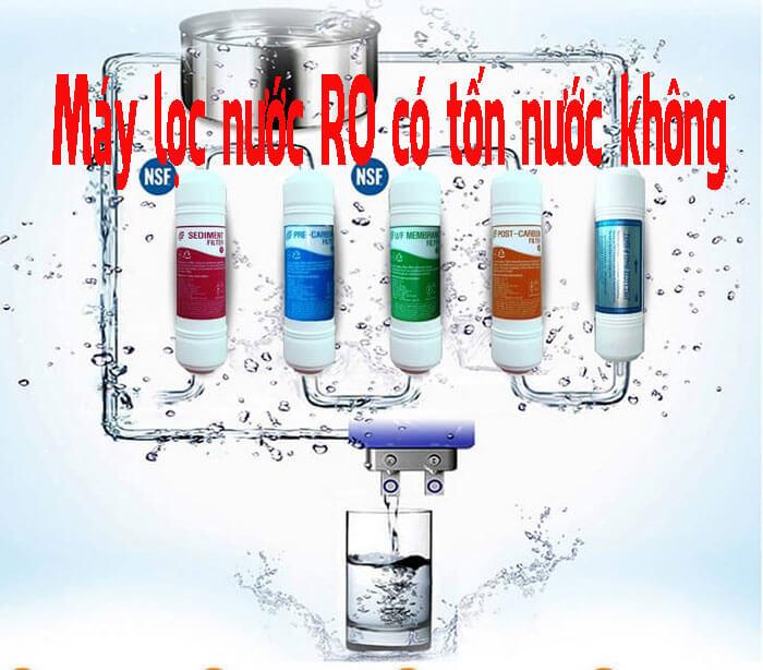 Dùng máy lọc nước RO có tốn nước không?